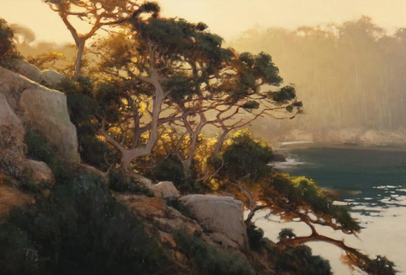 "2nd Place Overall ""Summer Light, Pt Lobos"" by brian blood Oil, 24x36"