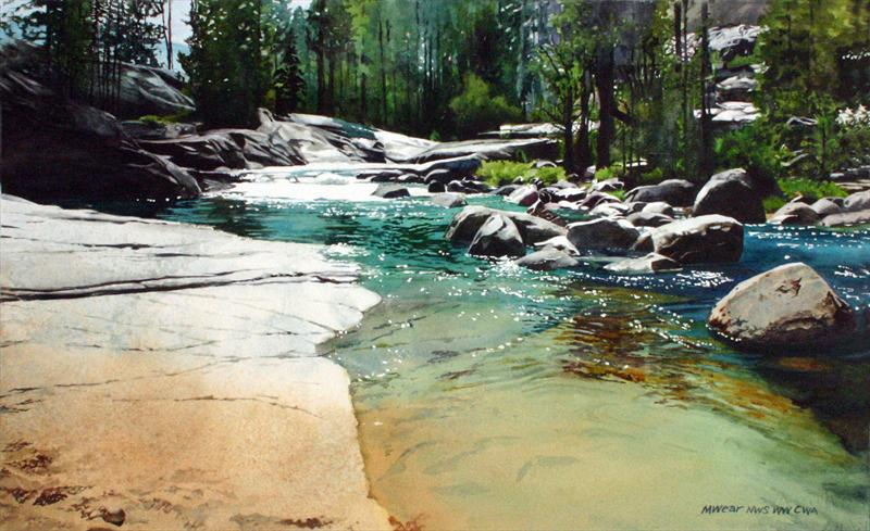 "Best Overall Watercolor ""High Sierra Sparkle"" by Marilyn Wear Watercolor, 12"" x 20"""