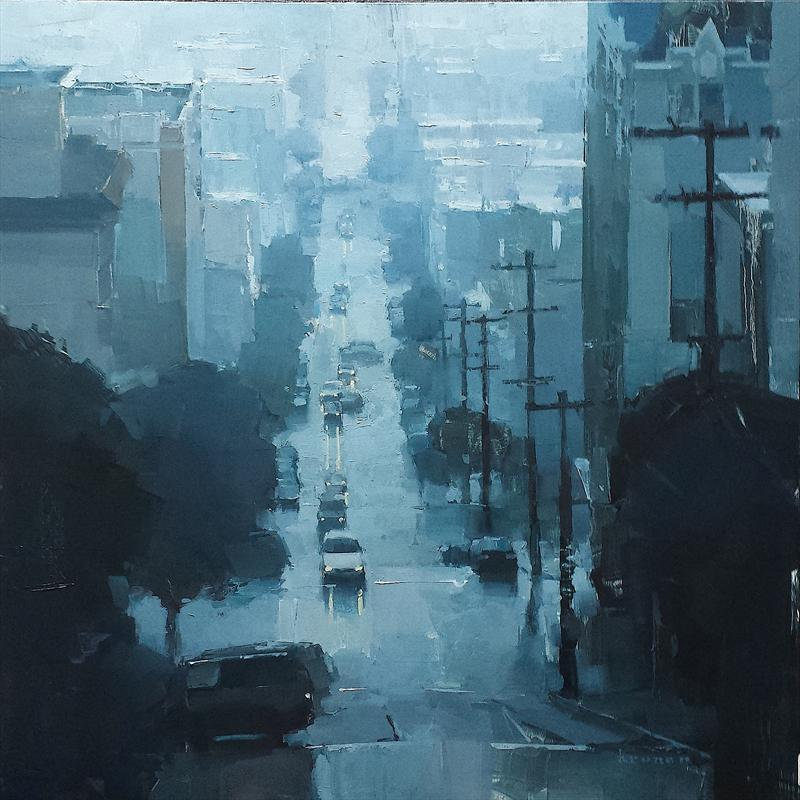 "1st Place Overall ""Slate Colored Storm"" by James Kroner Oil, 38"" x 38"""