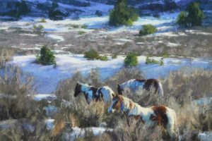 """Azure Wonderland"" by Kim Lordier, Soft Pastel, 22in. x 24in."