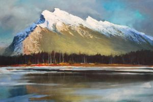 """Rundle from Vermillion"" by Linda Wilder, Acrylic 24in. x 36in."